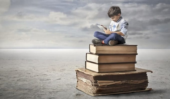 独学する子供