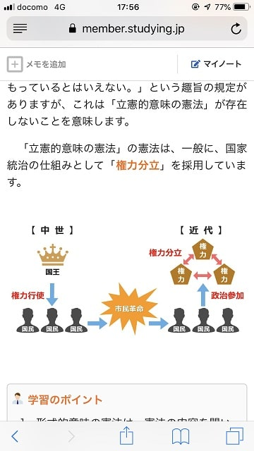 STUDYing(スタディング)行政書士通勤講座 スマホ画面04(PDFテキスト)